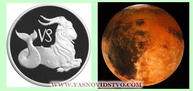 Марс в Козероге 10 знаках Зодиака