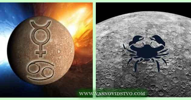 Меркурий в Раке 04 знаках Зодиака